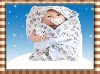 multi-fuction 100% cotton baby hooded wrap