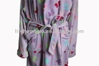 One Side Anti-pilling Polar Fleece Bathrobe for Women