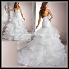 Sweetheart Strapless Organza wedding dresses in dubai (LG50002)