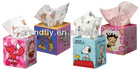 Square Shaped Lovely Tissue Box with Cartoon Images