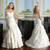 Strapless White exotic wedding dresses (BS540)