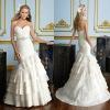 Strapless White exotic wedding dresses (BS540)