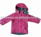 child's colorful winter jacket