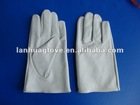 Cow grain leather glove with slip on cuff