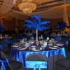 FASHION BLUE OSTRICH FEATHER CENTERPIECES FOR WEDDING DECORATION