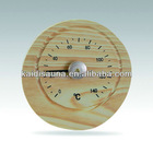 Sauna oval wooden clock