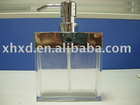 SQUARE STAINLESS STEEL & ACRYLICS LOTION BOTTLE