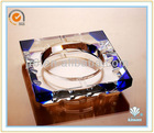 Antique Custom Glass Ashtrays and Square Crystal Ashtray with Round Hole