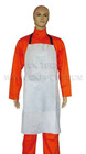 gray leather chest protective bib apron
