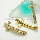 Rhinestone Sideways Cross Jewelry Charms