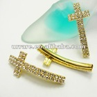 Rhinestone Sideways Cross Jewelry Charms