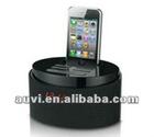 Portable IPhone dock with speaker/alarm clock/fm/remote