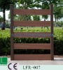 Eco- wood plastic (wpc)semi-privacy vinyle fences,environment friendly and wood fiber looklike uv protected