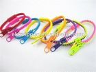 Newest fashion colorful plastic zipper bracelet