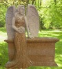 Granite angel headstone design