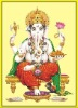 gold foil indian god picture (ganesh)
