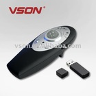 V820 Wireless presenter with RF trackball mouse and laser