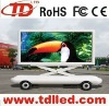 P25 moving car LED digital billboard