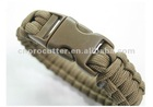 550 Paracord Coyote Brown Bracelet with Plastic Buckle
