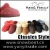 High quality colorful sheepskin slipper fashion woman slippers