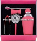 5PCS 201 Stainless Steel Cocktail Shaker Promotional Gift Set