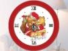 """Happy Time"" clock Cross stitch kit"