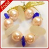 Christmas Tiny Tree or Package Ornament White and Blue Beach Glass Wreath