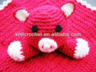 100% hand crocheted baby security blanket with Hand Crocchet Toy made in China (KCC-HCB0019)