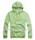 2012 Mens casual light green comfortable autumn hip hop fleece jacket hood