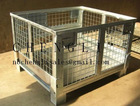 galvanized foldable strong loading metal wire/mesh container pallet