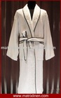 Hotel Bathrobe With Jacquard and Piping