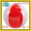 2012 hot sale plastic pvc air inflatable beach ball for