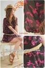 100% polyester flower design printed chiffon fabric