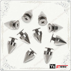 Wholesale Silver Punk Spikes with Screwback for Shoes
