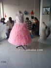 beautiful pink beaded with big ruffle skirt flower girl dress
