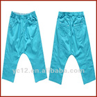 Children's Fashion Girls Cropped Harem Pants