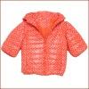 Stock: Printed Short Style New Design Girls Winter Coat with Medium Sleeve