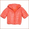 Stock: Printed Short Style New Design Girls Winter Coat with Medium Sleeve