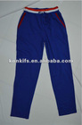 custom made man slim sweat pants with cotton fabric