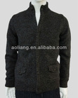 Men Zip Cardigan Sweater with Front Pockets