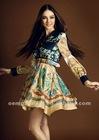 cheap summer dress 2012: long sleeve jeans dress