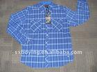 100% cotton check men's long sleeve shirt