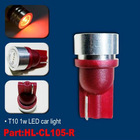 T10 1W RED LED car dash light