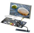 AV VGA Input 16:9 7 Inch lcd skd kit with touchscreen