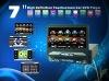7inch 1din car video with Built-in GPS, DVB-T ,IPOD,bluetooth, touch screen,detachable panel