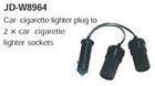 car cigarette lighter plug to 2*car cigarette lighter socket