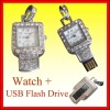 4GB USB Flash Drive With Watch Pendant