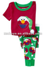 boys sleepwear/pajamas- Elmo Santa pattern