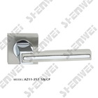 AZ11-357 SN/CP zinc door handle on rose