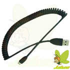 New Spring wire micro 5p usb cable for HTC/Blackberry/Samsung/SonyEricsson/Motorola/LG